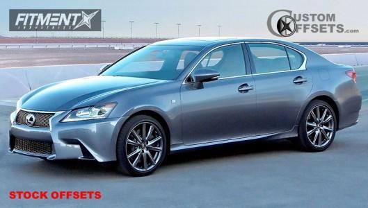 2013 Lexus GS350 - 19x8 45mm - Stock Stock - Stock Suspension - 235/40R19