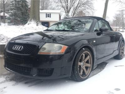 2004 Audi TT Quattro - 18x8.5 30mm - JNC JNC014 - Coilovers - 225/40R18