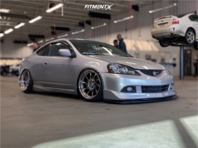 2005 Acura RSX - 18x9.5 22mm - Whistler Kr7 - Coilovers - 215/40R18