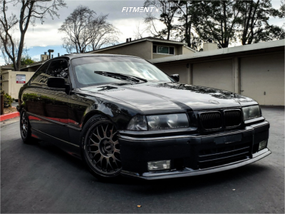 1998 BMW 323is - 17x8 38mm - BBS RG218 - Coilovers - 215/45R17
