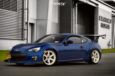 2013 Subaru BRZ - 18x10 44mm - Rays Engineering Te37 - Coilovers - 255/35R18
