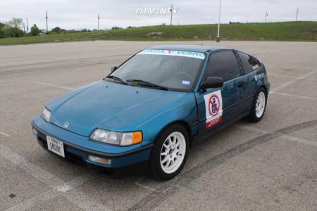 1991 Honda CRX - 15x7 40mm - Rota Gt3 - Coilovers - 205/50R15