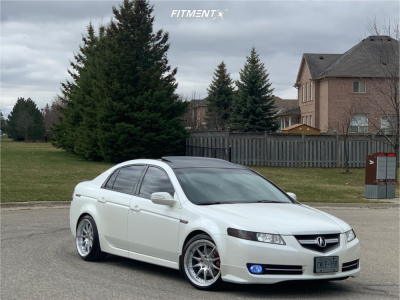 2007 Acura TL - 18x9.5 30mm - Aodhan Ds07 - Lowering Springs - 225/40R18