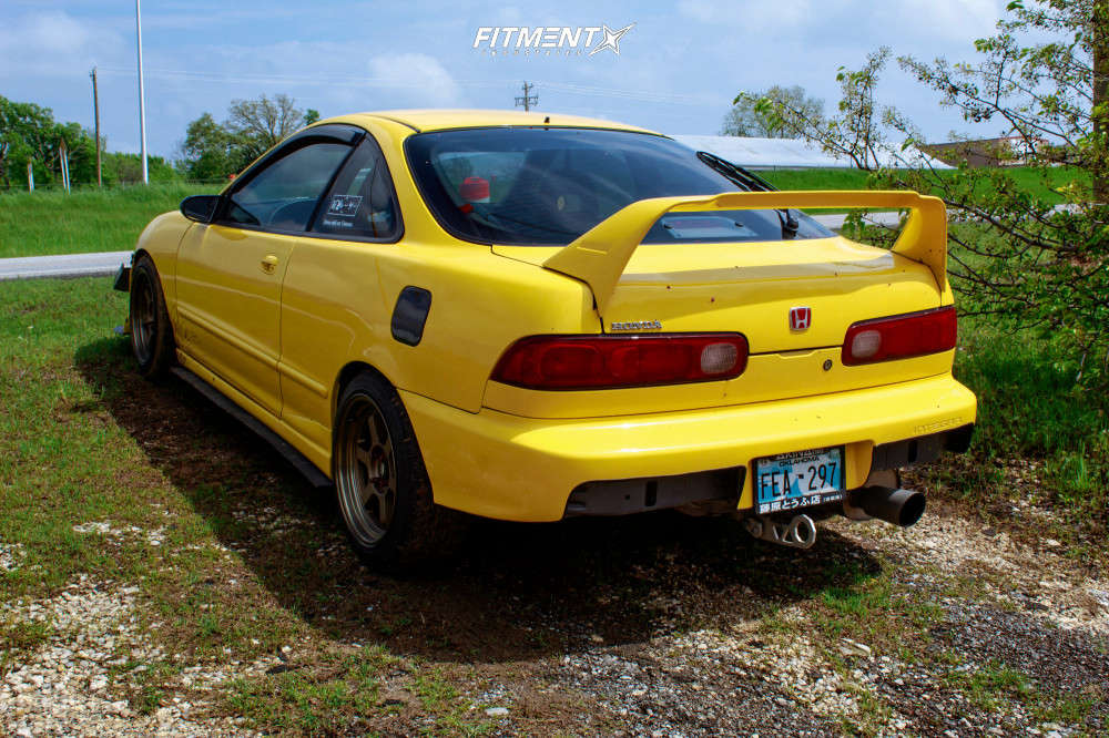 Nearly Flush 1994 Acura Integra with 16x8 MST Time Attack & Firestone Indy 500 205/45 on Lowering Springs - Fitment Industries Gallery