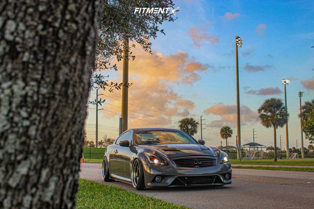 Tucked 2009 Infiniti G37 with 19x10.5 Work Meister S1 3P & Achilles Atr Sport 2 235/35 on Coilovers - Fitment Industries Gallery