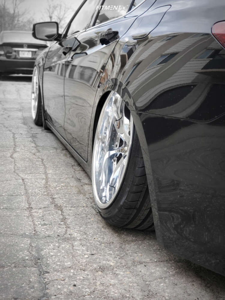 Tucked 2015 Acura TLX with 19x9.5 Weds Kranze Vishunu & Ovation Vi-388 225/35 on Air Suspension - Fitment Industries Gallery