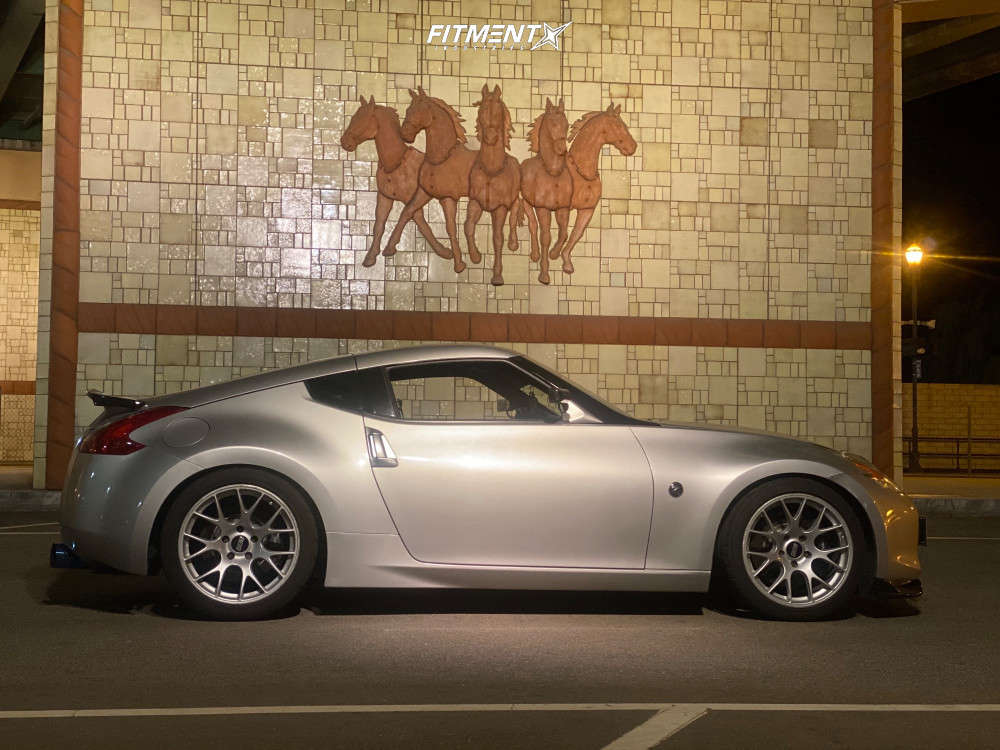 Poke 2012 Nissan 370Z with 19x10 BBS Ch-r & Nitto Nt05 275/40 on Lowering Springs - Fitment Industries Gallery