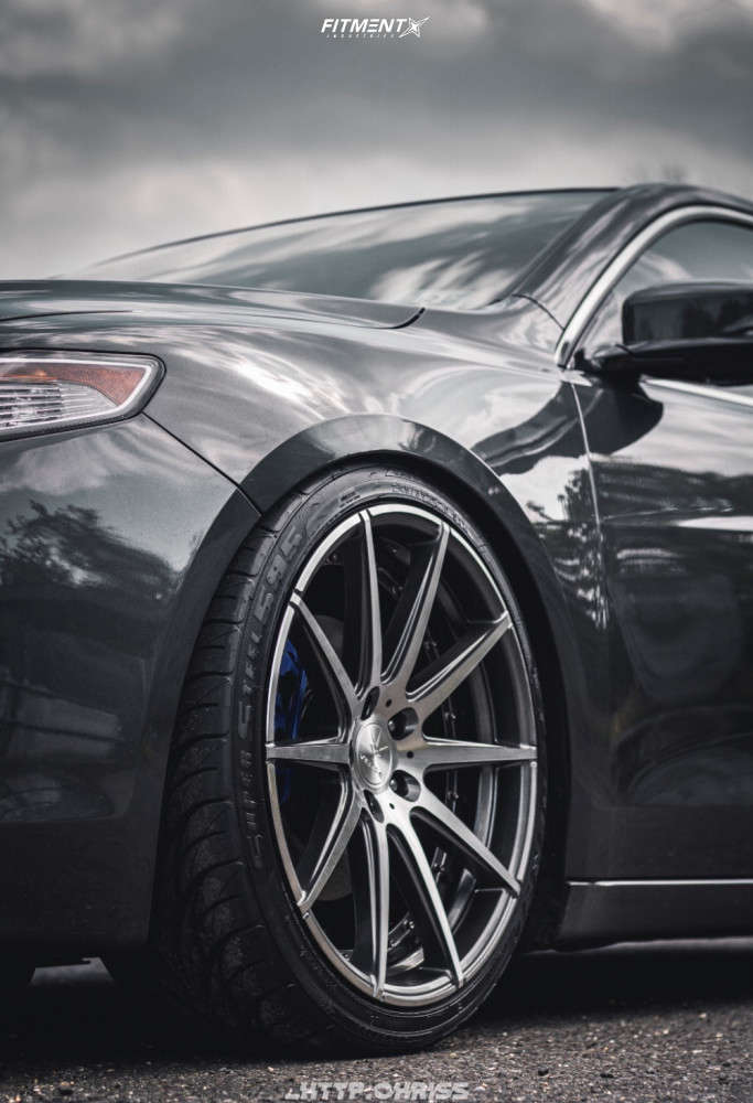 Tucked 2015 Acura TLX with 20x9 Verde Insignia & Federal All Season 245/35 on Coilovers - Fitment Industries Gallery