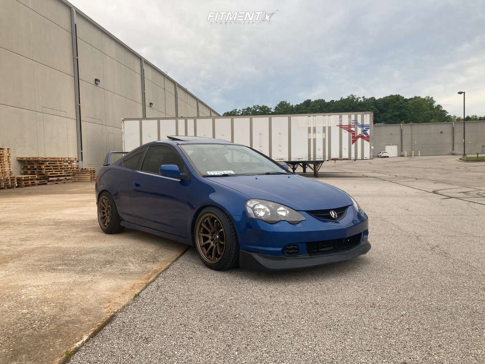 Nearly Flush 2004 Acura RSX with 17x9 JNC JNC006 & Ohtsu FP7000 225/45 on Coilovers - Fitment Industries Gallery