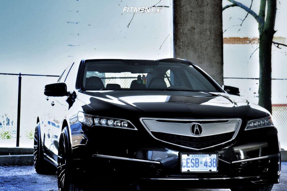 Poke 2015 Acura TLX with 20x10.5 Asanti Black Abl-14 & Zeta Alventi 245/35 on Stock Suspension - Fitment Industries Gallery