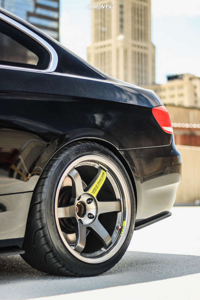 Flush 2008 BMW 335i with 18x9.5 Volk Te37sl and Federal 595 Rs-r 245/35 on Coilovers - Fitment Industries Gallery