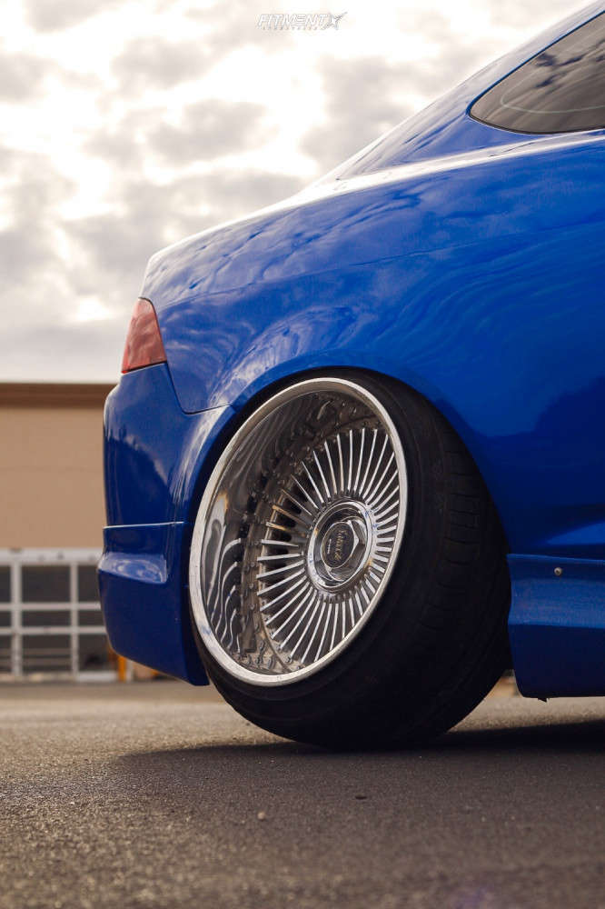 Poke 2004 Acura RSX with 18x10 Work Emitz & Federal 595 Ss 225/35 on Coilovers - Fitment Industries Gallery