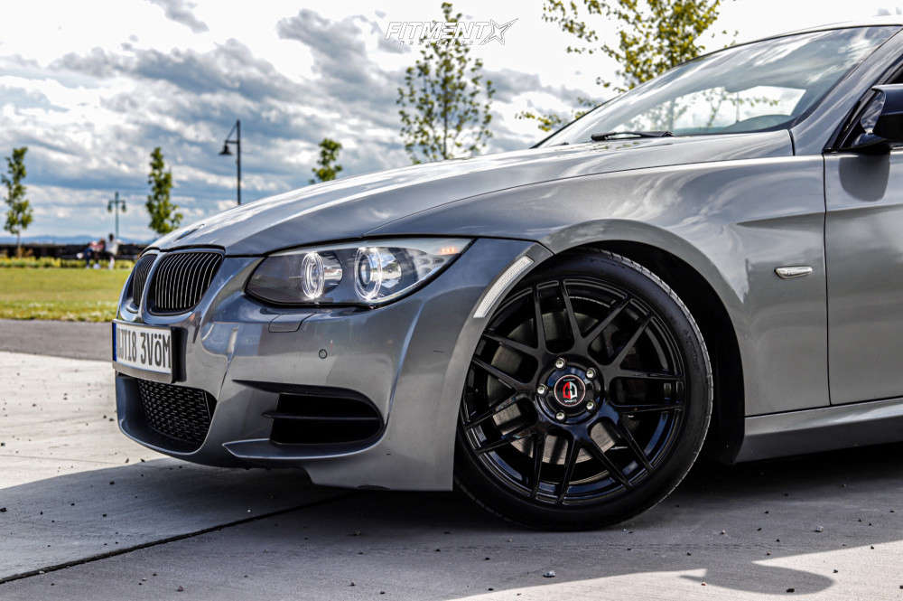Flush 2011 BMW 335is with 18x8.5 Curva C300 and Continental Dws 225/40 on Coilovers - Fitment Industries Gallery