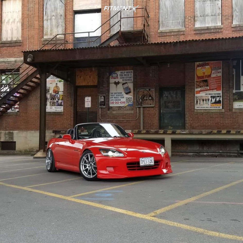 Poke 2001 Honda S2000 with 17x8 Enkei Ts-10 & Nexen Nfera Su1 215/45 on Coilovers - Fitment Industries Gallery