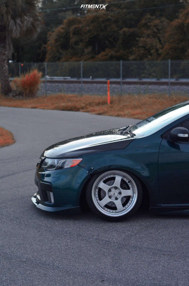 Tucked 2010 Kia Forte Koup with 17x9.5 SSR Sp1 & Cosmo Mucho Macho 205/40 on Coilovers - Fitment Industries Gallery