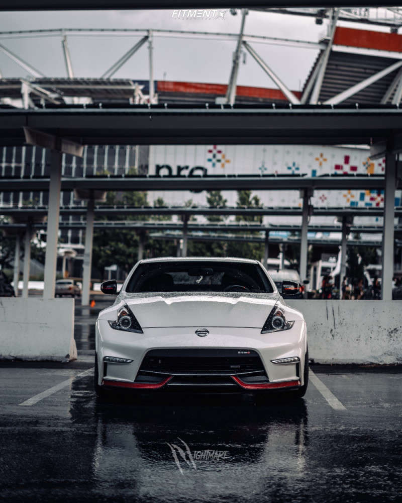 Tucked 2019 Nissan 370Z with 19x9.5 Gram Lights 57DR & Dunlop Sp Sport Maxx Gt 245/40 on Lowering Springs - Fitment Industries Gallery