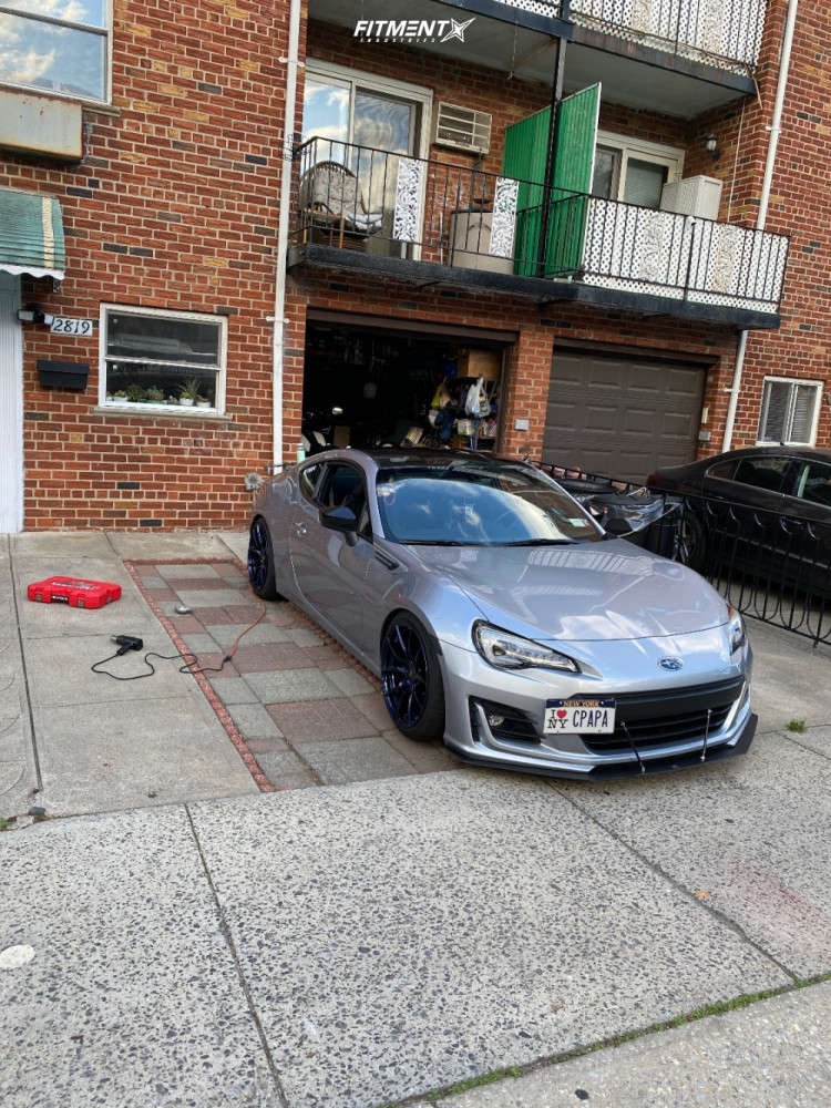 Flush 2019 Subaru BRZ with 18x9.5 Option Lab R716 & Zeta Meglio 225/40 on Coilovers - Fitment Industries Gallery