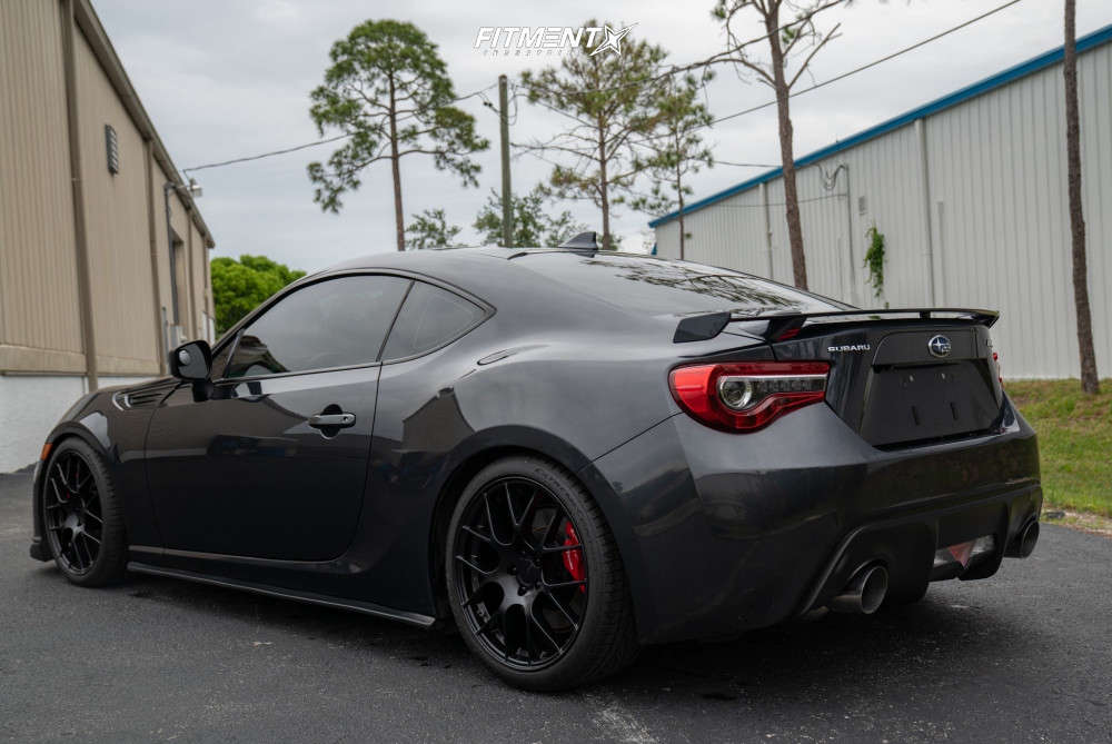 Flush 2017 Subaru BRZ with 18x8.5 Enkei Raijin & Continental Extreme Contact 255/35 on Coilovers - Fitment Industries Gallery