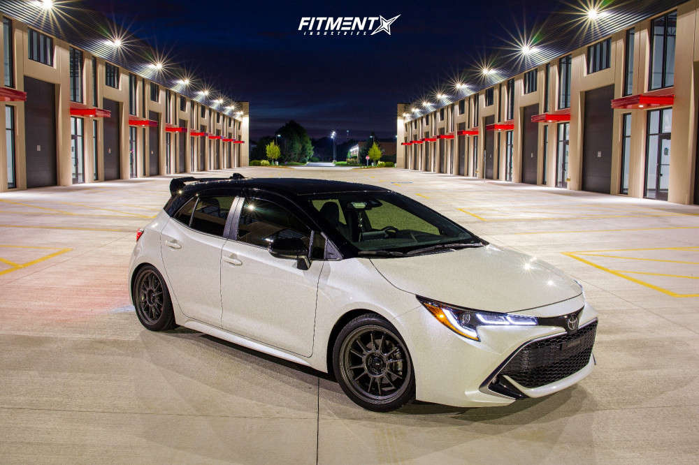 Nearly Flush 2020 Toyota Corolla with 18x8.5 Konig Hypergram & Continental Extreme Contact Dws 245/35 on Lowering Springs - Fitment Industries Gallery