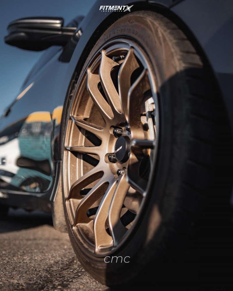 HellaFlush 2019 Honda Civic with 18x9.5 AVID1 AV20 & Achilles Atr Sport 2 245/45 on Lowering Springs - Fitment Industries Gallery