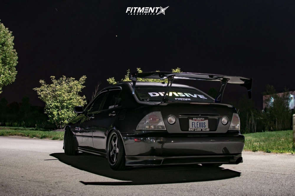 Nearly Flush 2003 Lexus IS300 with 17x9 Kansei Knp & Continental A/t Sport 225/45 on Coilovers - Fitment Industries Gallery