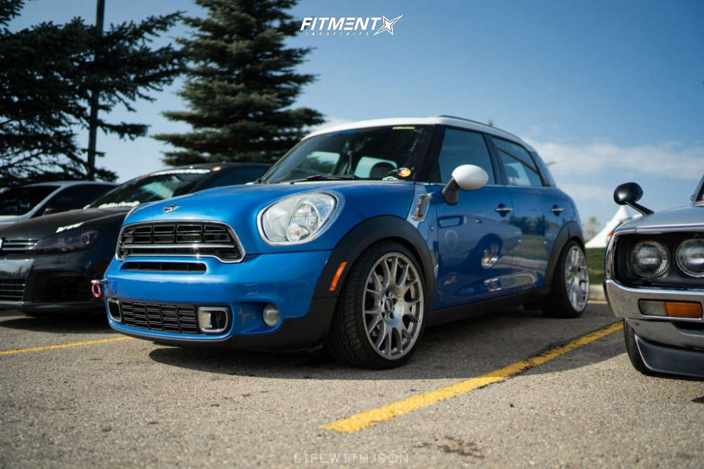 Poke 2013 Mini Cooper Countryman with 19x8.5 BBS Ch and Maxxis Victra 235/35 on Coilovers - Fitment Industries Gallery