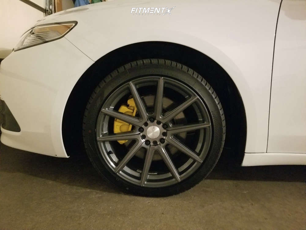 Poke 2015 Acura TLX with 18x8.5 F1R F27 & Nankang Ns-25 255/35 on Stock Suspension - Fitment Industries Gallery