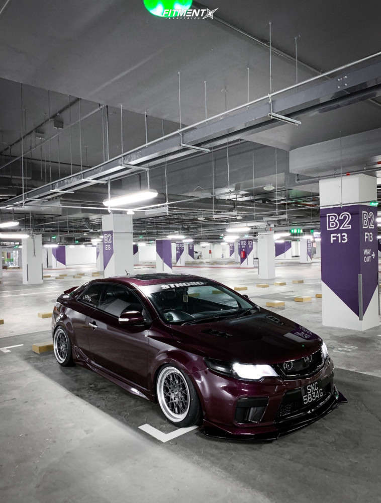 Flush 2010 Kia Forte Koup with 18x8.5 ESR Cs3 & Nankang Ns-25 215/40 on Coilovers - Fitment Industries Gallery