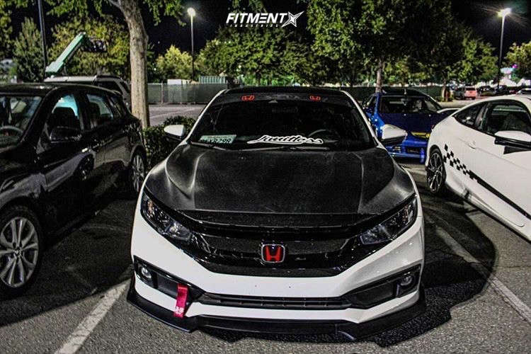 Poke 2019 Honda Civic with 18x9.5 Avid1 AV20 & Ohtsu Fp7000 245/40 on Stock Suspension - Fitment Industries Gallery
