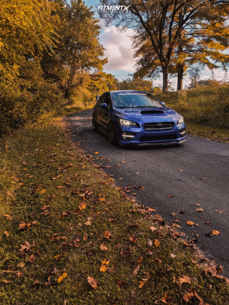 Flush 2016 Subaru WRX STI with 18x9.5 AVID1 AV20 & Federal 595 Rs-rr 265/35 on Coilovers - Fitment Industries Gallery