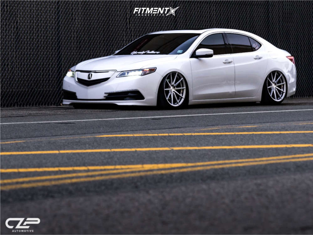 Tucked 2015 Acura TLX with 20x10 Rohana Rf1 & Achilles 868 All Seasons 245/35 on Air Suspension - Fitment Industries Gallery