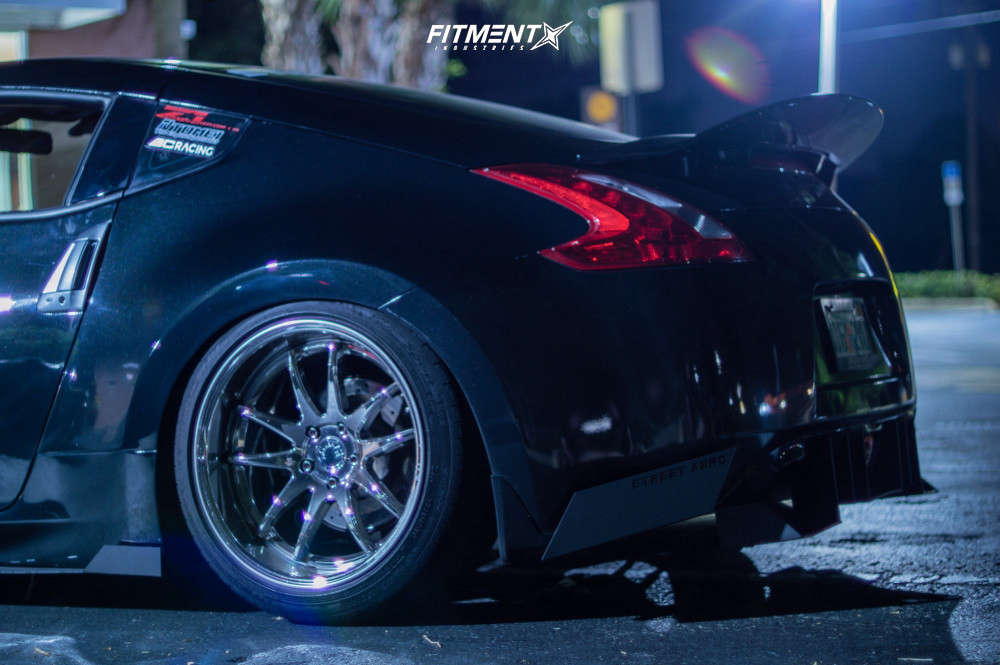 Flush 2009 Nissan 370Z with 19x9.5 Aodhan Ds02 & Michelin Pilot Sport Ps2 245/40 on Coilovers - Fitment Industries Gallery