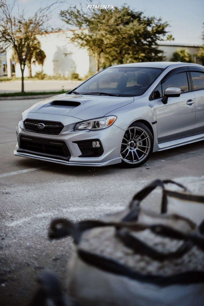Flush 2020 Subaru WRX with 18x9.5 AVID1 AV20 & Federal Ss-595 235/40 on Coilovers - Fitment Industries Gallery