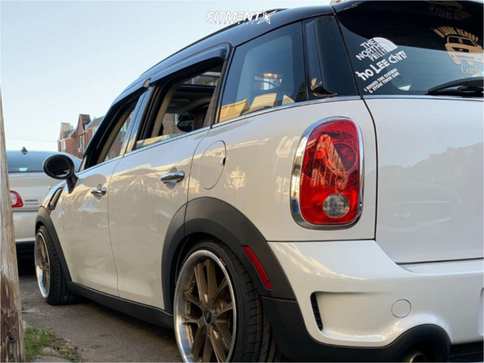 Nearly Flush 2013 Mini Cooper Countryman with 18x8.5 Arc AR5 and Achilles Atr Sport 2 205/35 on Stock - Fitment Industries Gallery