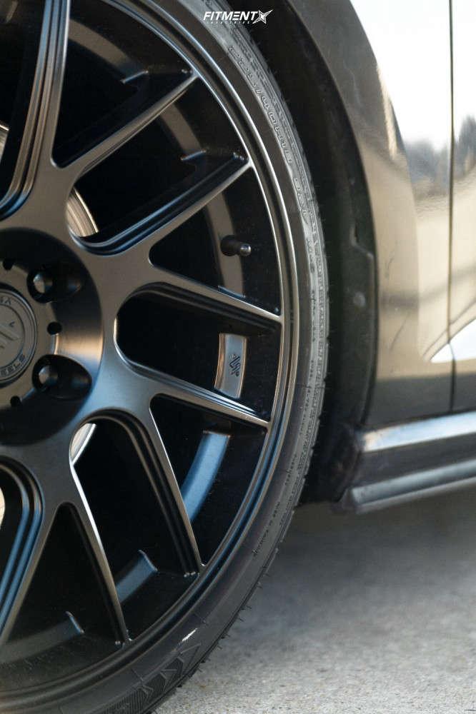 Flush 2016 Volkswagen GTI with 18x8.5 Artisa ArtFormed Elder & Sumitomo GeoTour 225/40 on Coilovers - Fitment Industries Gallery