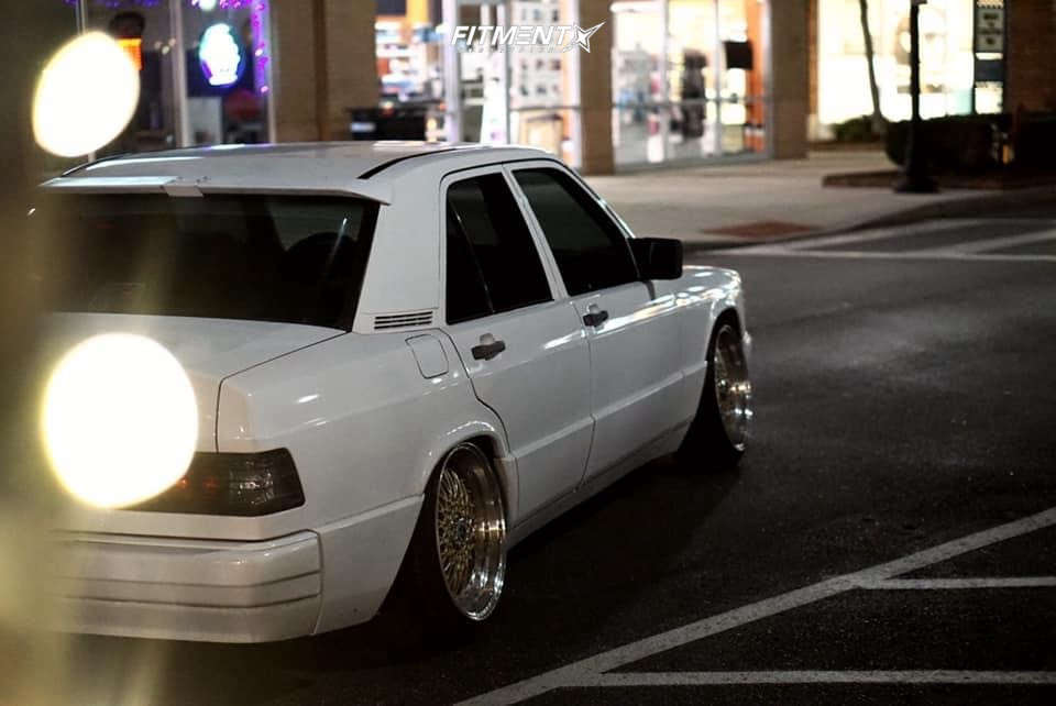 Tucked 1989 Mercedes-Benz 190E with 17x8.5 JNC Jnc004 and Achilles Atr Sport 215/40 on Coilovers - Fitment Industries Gallery