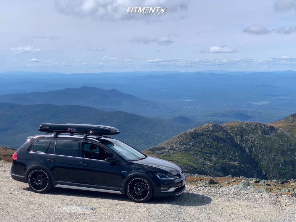 Nearly Flush 2017 Volkswagen Golf Alltrack with 19x8.5 BBS Ch-r and Michelin Pilot Super Sport 245/35 on Coilovers - Fitment Industries Gallery