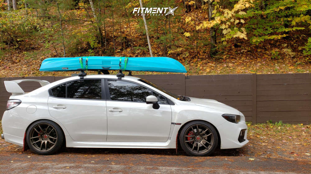 Flush 2018 Subaru WRX with 18x9.5 Work Emotion Cr Kiwami and Dunlop Sp Sport Maxx 245/40 on Coilovers - Fitment Industries Gallery
