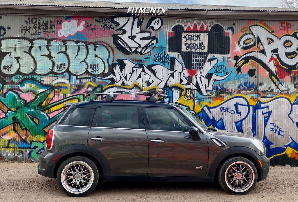 Nearly Flush 2011 Mini Cooper Countryman with 18x8.5 F1R F21 and Achilles ATR Sport 225/40 on Stock Suspension - Fitment Industries Gallery
