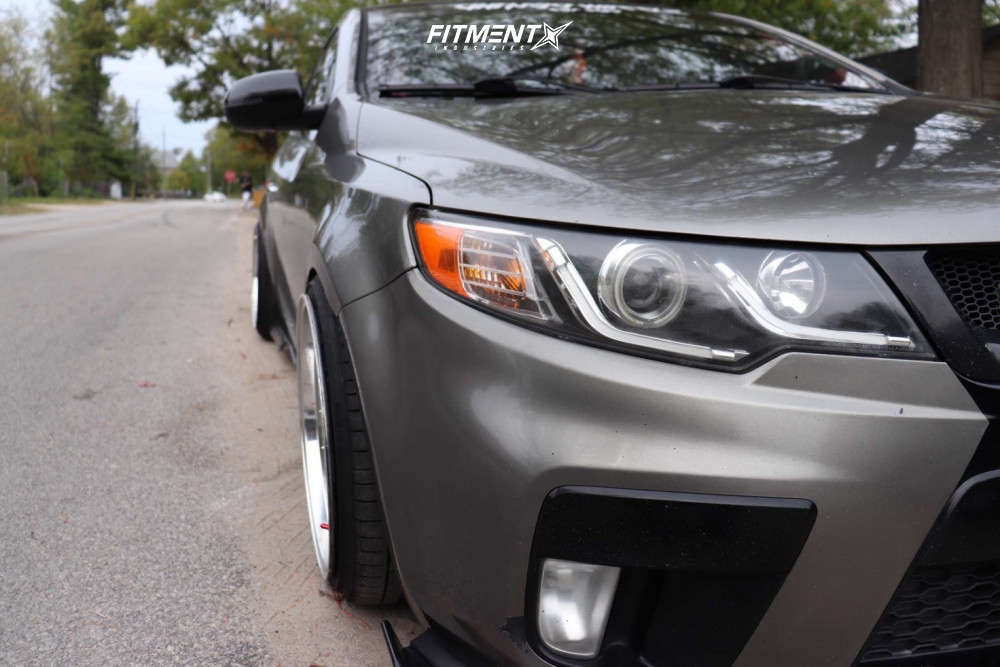 HellaFlush 2010 Kia Forte Koup with 18x9.5 Chikara Rs10 & Altenzo Sport Comforter 215/35 on Coilovers - Fitment Industries Gallery