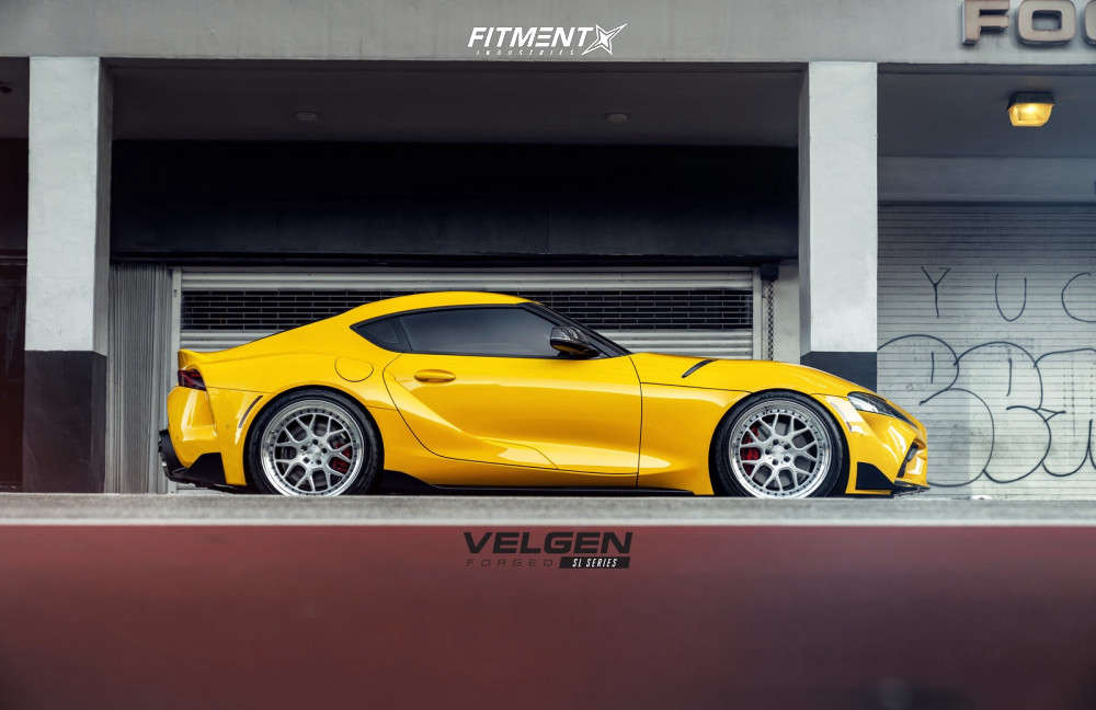 Flush 2020 Toyota GR Supra with 20x9.5 Velgen Sl-7 & Nitto Nt555 G2 275/30 on Lowering Springs - Fitment Industries Gallery