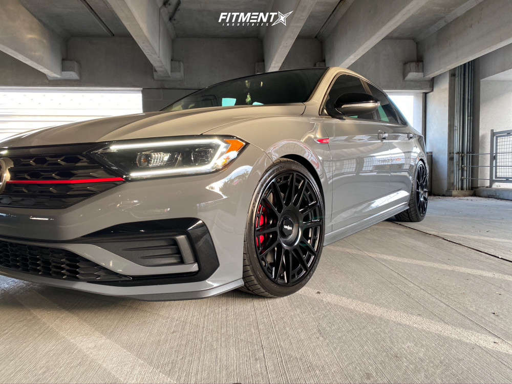 Flush 2019 Volkswagen Jetta with 19x8.5 Rotiform Ozr and Nitto Neo Gen 245/35 on Lowering Springs - Fitment Industries Gallery