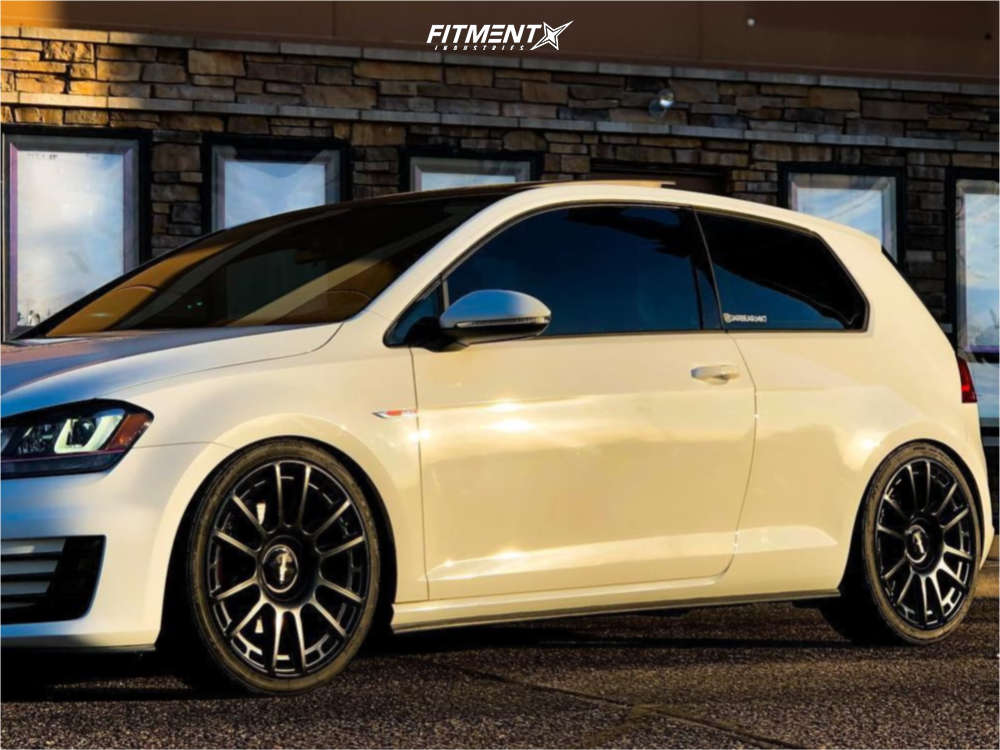 Flush 2017 Volkswagen Jetta with 19x8.5 Rotiform Ozr and Nitto Nt555 G2 235/35 on Coilovers - Fitment Industries Gallery