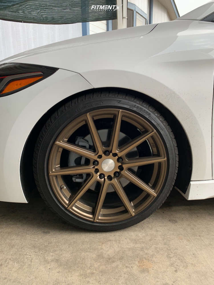 Flush 2017 Hyundai Elantra with 18x8.5 F1R F27 and LeMans Performance A/V Ii 225/40 on Lowering Springs - Fitment Industries Gallery
