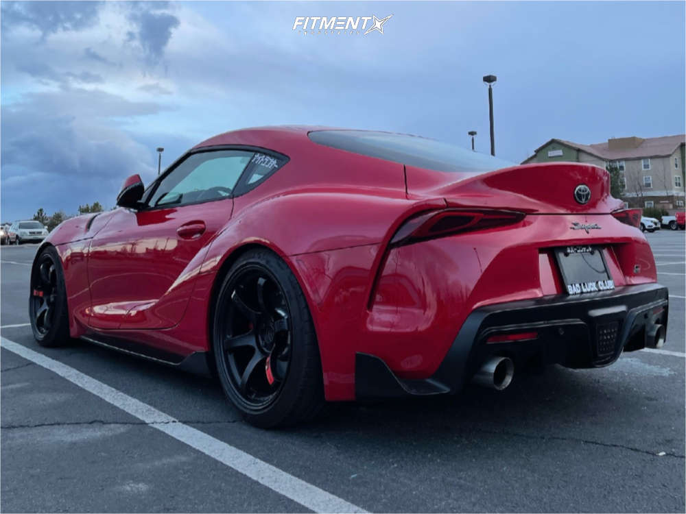 Nearly Flush 2020 Toyota GR Supra with 19x9.5 Gram Lights 57dr & Michelin Pilot Sport 225/35 on Lowering Springs - Fitment Industries Gallery