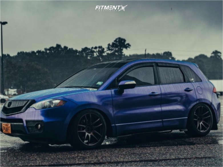 Flush 2011 Acura RDX with 19x9.5 ESR Sr08 and BFGoodrich Advantage T/a Sport 245/40 on Coilovers - Fitment Industries Gallery