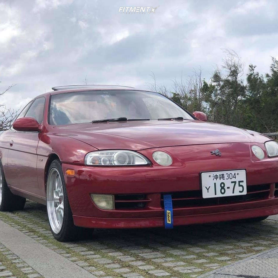 Nearly Flush 1993 Lexus SC300 with 18x8.5 F1R F105 and Kenda Kr20 245/35 on Coilovers - Fitment Industries Gallery