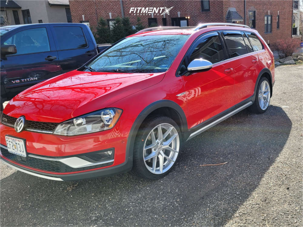 Nearly Flush 2017 Volkswagen Golf Alltrack with 18x8.5 Rotiform Flg and Hankook Ventus V12 Evo 2 235/40 on Stock Suspension - Fitment Industries Gallery
