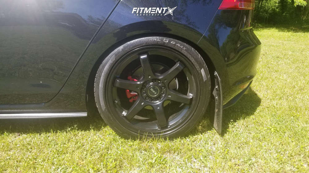 Nearly Flush 2017 Volkswagen GTI with 18x8 NS NS1507 and General G-max As-05 225/40 on Lowering Springs - Fitment Industries Gallery
