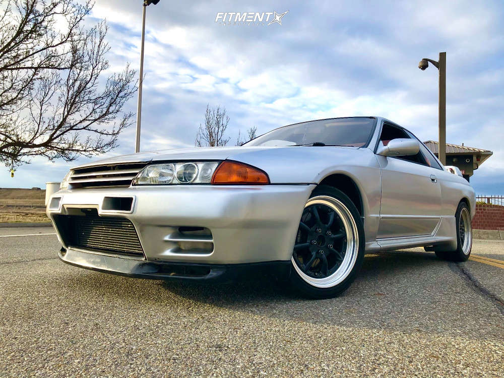 Tucked 1991 Nissan GT-R with 17x7.5 Watanabe Rs & Yokohama Advan Neova Ad08r 215/40 on Coilovers - Fitment Industries Gallery